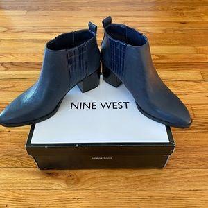 Navy Nine West boots